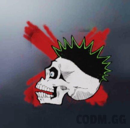 Punk Skull, Rare Spray in Call of Duty Mobile